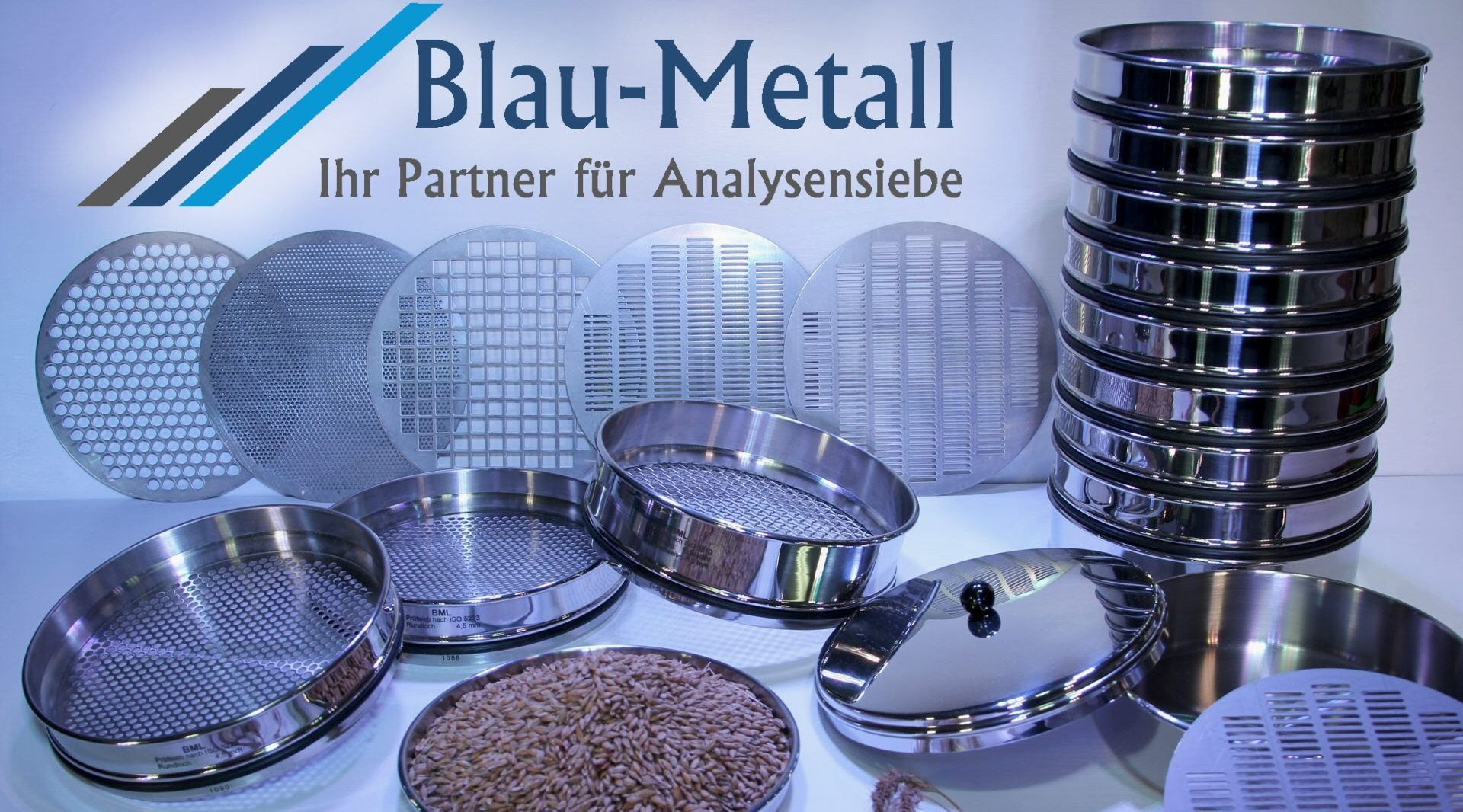 Blau-Metall – Analysensiebe, Laborsiebe nach Norm